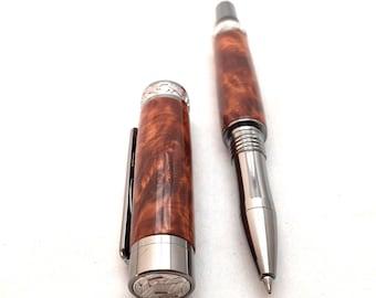 Handmade Pen - Wood Pen - Thuya Burl Wood - Wedding Anniversary Gift ** 5th Anniversary Gift **