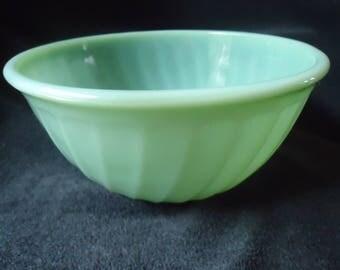 Vintage Jadeite Fire King Swirl Bowl