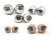 5 pairs 10 pcs. doll sleepy blinking blue eyes 14-24mm plastic and metal