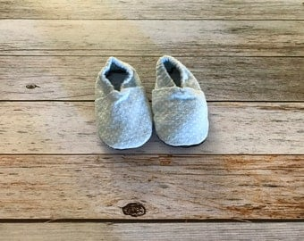 Blue and White Polkadot Soft Sole Baby Shoes - Size 3-6 Months
