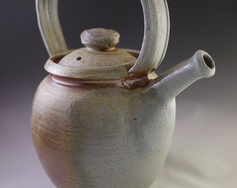 Grey, Tan, and Gold Woodfired Teapot (TRP15-30)