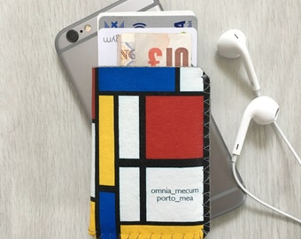 Personalised Mondrian Card Holder, Business Card Holder, Debit Card Holder, Oyster Card Holder, Credit Card Case