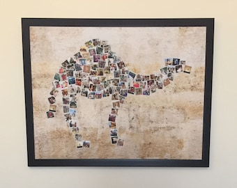 """Camel Collage - Personalized with 108 of your photos - 4 background options - Digital file - 40""""x30"""" (100.2 cm x 76.2 cm)"""