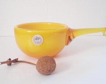 Vintage Cased Glass Bowl Holmegaard Kastrup Palet Herring Bowl Danish Modern