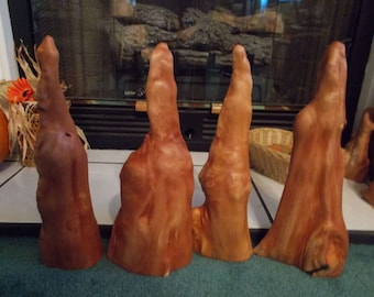 Carolina Cypress Knees 14inchers Set of 4 Paint Santa, Craft, Carve 10-25-16-1  FREE SHIPPING!!!