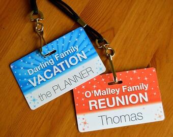 Custom Disney Vacation Family Badge