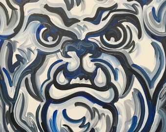 24x24 Officially Licensed Butler University Painting by Justin Patten Art College Basketball Bulldog Indianapolis Hinkle Storm Striker