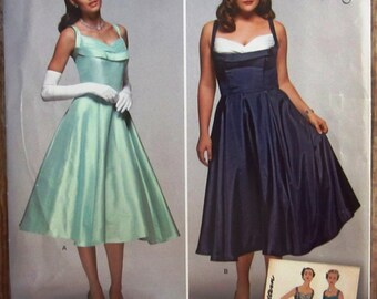 1950s Style Misses Dress Sizes 10 12 14 16 18 Simplicity Pattern S0857 or 1155 UNCUT (Sara's)