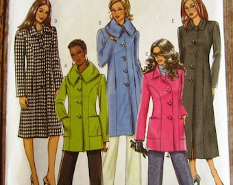 Easy to Sew Misses Jacket and Coat, Semi-fitted, Lined, Princess Seam, A-line Sizes 16 18 20 22 Butterick Pattern B4665 UNCUT