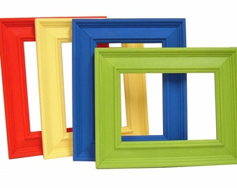 Picture Frames 5x7 Wood Frames Custom Colors Wall Art Prints Frames Nursery Decor Modern Home 5x7 Picture Frame
