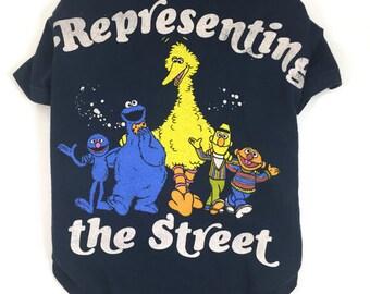 Sesame Street Dog Tee, Representing The Street, Size Large