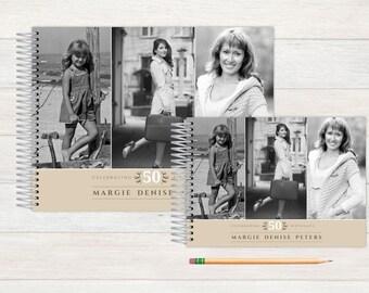 Birthday Guest Book, Birthday Guestbook, Birthday, Custom GuestBook, Personalized GuestBook, Birthday Registry Book, vintage flashback