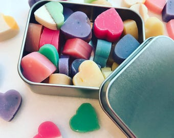 MINI TRAVEL HAND Soap Hearts - Travel Soaps - Mini Soaps