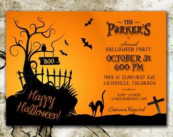 Halloween Party Invitation *DIGITAL DOWNLOAD*