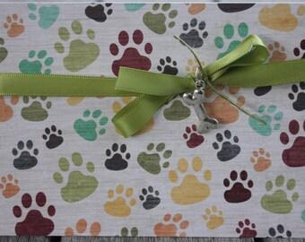 Dog Sympathy Card, Pet Sympathy Card, Dog Loss Card, Pet Loss Card, Loss of Furry Friend Card, Dog Pawprints Card