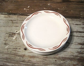 Four Homer Laughlin Restaurant Ware Salad Plates
