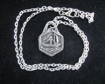 Handmade Necklace, St. Brendan, Patron of Sailors, Kayakers, Canoers