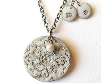 Grandmother Silver Personalized Necklace, Children and Grandchildren Gift for Nana and Mama, Mother's day 2017 Nana Gift