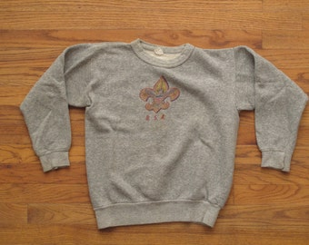 vintage Boy Scouts crew neck sweatshirt