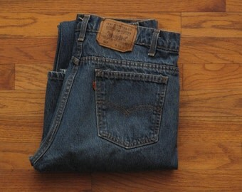 vintage made in USA Levis 517 bootcut jeans