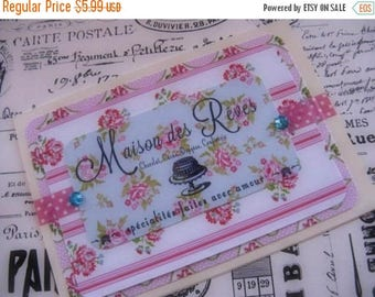 Spring Clearance SaLe Antique French Label Inspired Card Floral Blank Greeting Gift Giving All Occasion