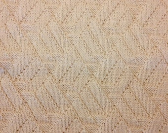 COLLECTION: SEACLIFF Hand Knit Geometric Patterned Wool Blend Throw