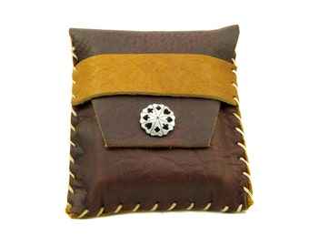 Heirloom Leather Card Case in Merlot Saddle