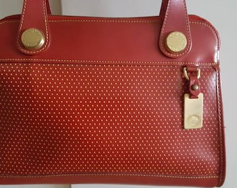 Vintage Dooney and Bourke red cabrio leather bag