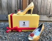 Belle Beauty and the Beast Rose Adult Pair Shoes Dress Shoes Heels Custom Made