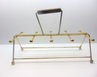 Vintage Gold Wire  Glass Caddy