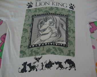 Vintage 90's Walt Disney The Lion King 1994 Movie Promo dope hip hop T Shirt Adult size XL