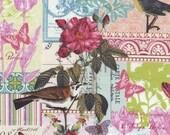 Orders ship 11/28/16 Belle Rose Fabirc in Pink by Michael Miller Fabrics - Half Yard