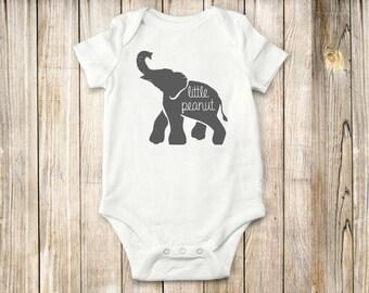 Elephant onesie, Little peanut onesie, Baby clothes, bodysuit, tops, children