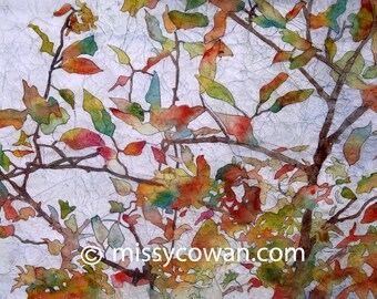 OVERHEAD BRANCH  - Giclee  Print of Original Watercolor Painting