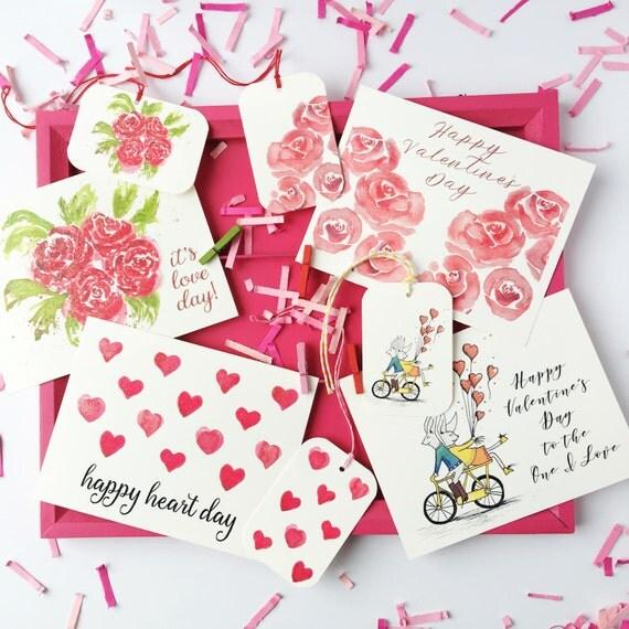Valentines Day Stationery Gift Set Hearts Stationery Valentine Confetti Valentineu2019s Day ...