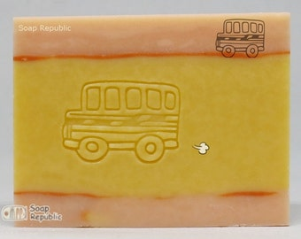 SoapRepublic School bus Acrylic Soap Stamp