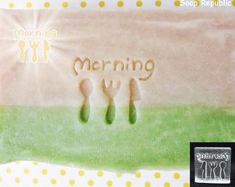 SoapRepublic Good morning! Acrylic Soap Stamp / Cookie Stamp / Clay Stamp