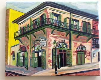 Absinthe House New Orleans | 8 x 10 print of oil painting Louisiana Artist Kristi Jones Impressionist | French Quarter | New Orleans art
