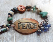 RESERVE for Vicki Peace Bracelet Boho