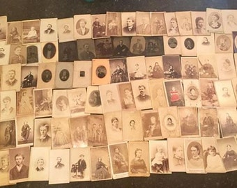 1 LB Lot of Tintypes and CDVs - Civil War Tax Stamps - Mostly Indiana & Wisconsin