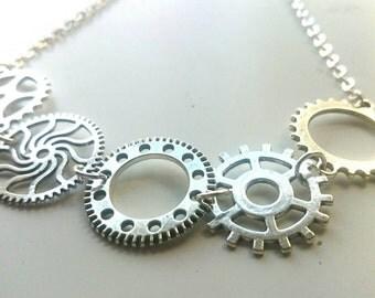 Cogs Charm Necklace - Super cute unique