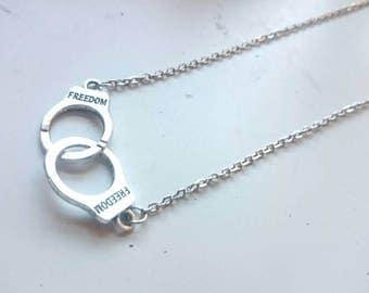 Handcuffs 50 Shades Inspired Charm Necklace Fun Unique Gift For A Fan