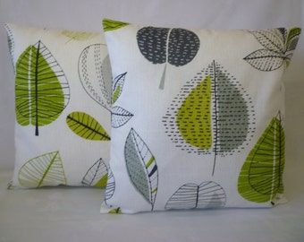 "PAIR Cushion Pillow Covers Lime Green 4 CHOICES Mix Match Designer Decorative Pillows Shams Slips PAIR 16"" (40cm)"