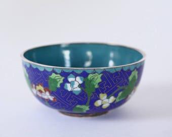 Round Vintage Cloisonne Bowl