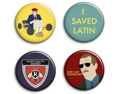 Rushmore Badges - Wes Anderson Rushmore Film Pinback Buttons or Magnets