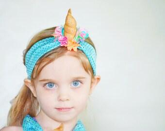 Unicorn swim headband