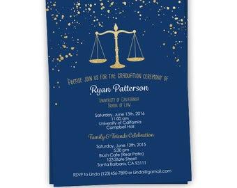 Law School Graduation Invitation