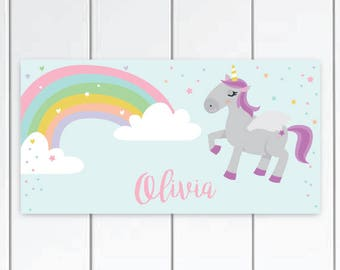 Personalized Unicorn Door Sign -  Unicorn Bedroom for girls ,Unicorn baby Nursery Decor, Unicorn Bedroom Decor, Unicorn Decor.