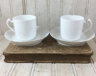 Vintage French Demitasse Cups and Saucers
