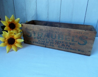 Vintage Cheese Box /Wooden Box /Container